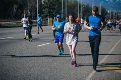 Дистанция 10 км на VI Алматы Марафон - 2017